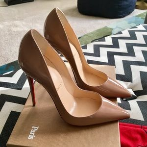 Brand New Christian Louboutin Nude So Kate 39